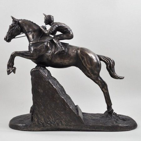 Cold Cast Bronze Steeple Chaser Sculpture - £109.99