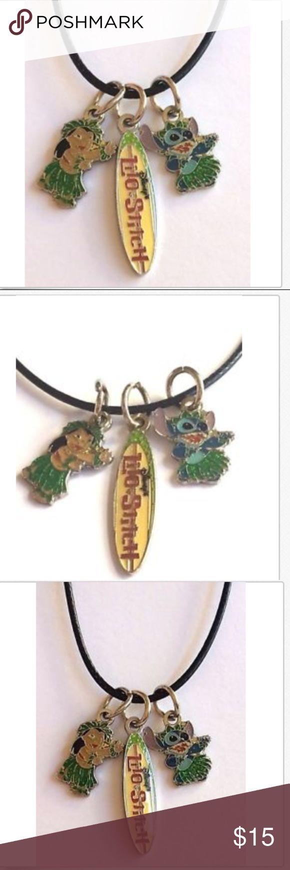 "Silver Lilo & Stitch Necklace Pendant Disney 19"" | Disney ..."