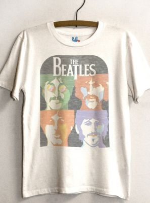Kids Boys The Beatles Vintage Inspired Solid Tee  $32 @ http://www.junkfoodclothing.com
