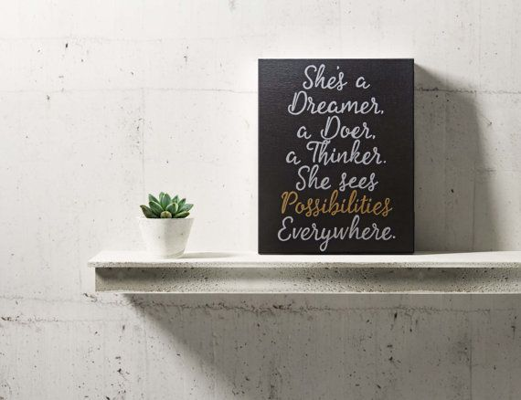 Inspirational wall art  Motivational Quote  quote on canvas