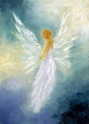 Abstract Angel Paintings | ANGEL~An Angel A Day-Angel Art, Paintings, Prints & Cards by Marina ...