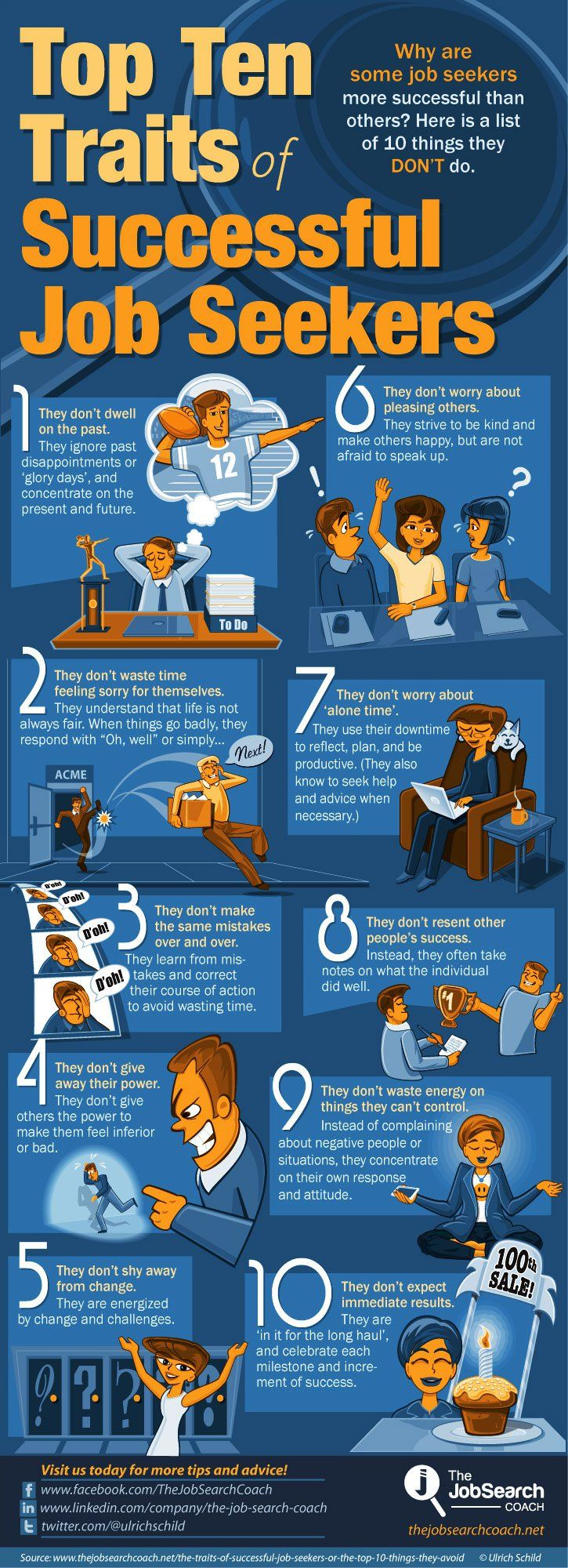 top ideas about job search infographics top traits of successful job seekers