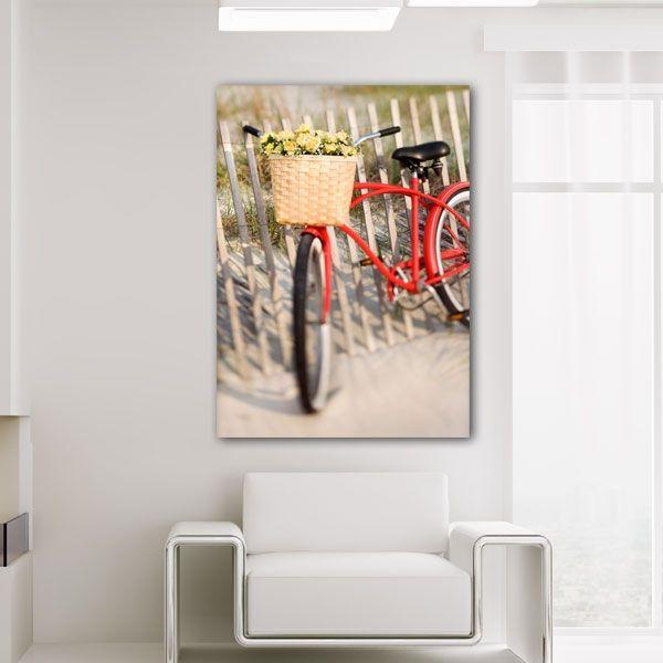 Πίνακας σε καμβά ο κόκκινο ποδήλατο