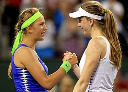 3 hours for Azarenka to avoid upset by Barthel ~ play your game!!