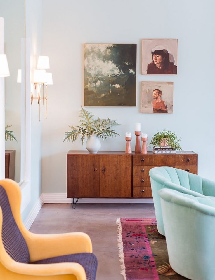 Emily Henderson Best Pastel Paint Rooms3 - Theresa's Green by Farrow and Ball.