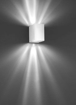 Studio Italia Design :: Laser Cube AP6 biała kinkiet