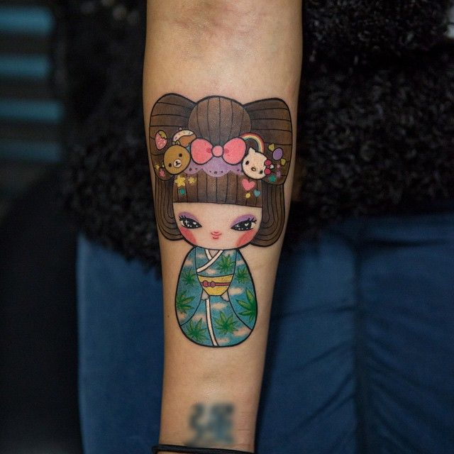 Image result for kawaii sleeve tattoo