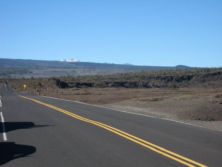 Near Kilauea crater,Mauna Kea (or Mauna Loa) in background,Big island,Hawaii,USA