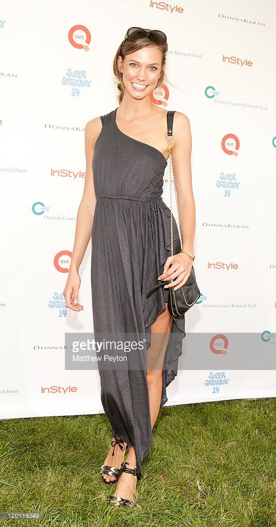 Model Karlie Kloss walks the red carpet at QVC Presents Super Saturday Live at Nova's Art Project on July 30, 2011 in Water Mill, New York.