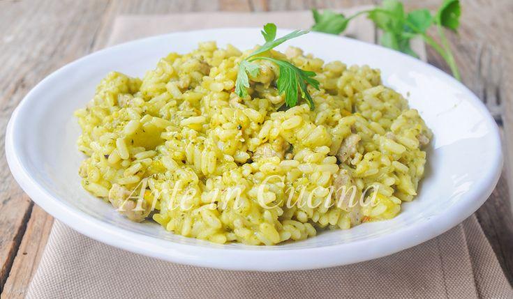 Risotto+con+broccoli+e+salsiccia+cremoso+ricetta+facile
