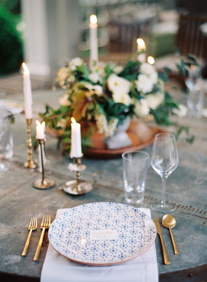 : Weddingstyling Andthebridewore, Wedding Tables, Candlesticks, Inspiration, Gardens, Brass Wedding Decor, Wedding Ideas Blue, Party Ideas