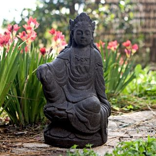 Handcrafted Quan Yin Stone Statue, Handmade in Indonesia - Free Shipping Today - Overstock.com - 13024794 - Mobile