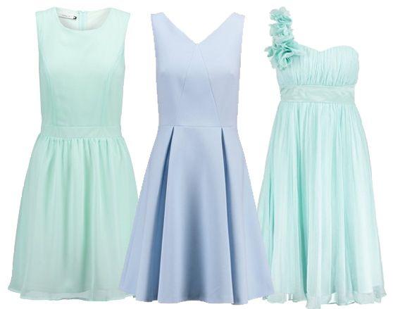 Lichtblauwe jurken