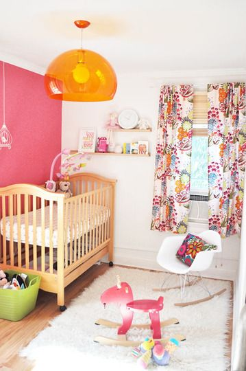 pink room girls fun baby girls nursery room nursery ideas room ideas ...