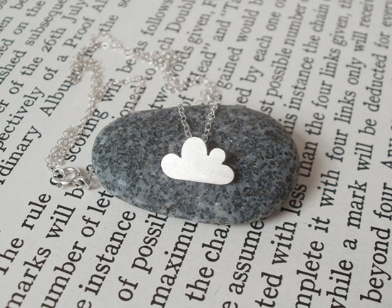 Cloud Necklace: Lucky Happy, Silver Cloud, Cloud Necklaces, Silver Jewellery Handmade, Happy Cloud, Jewelry Accessories, Jewelry Class, Beautiful Cornwall, Sterling Silver