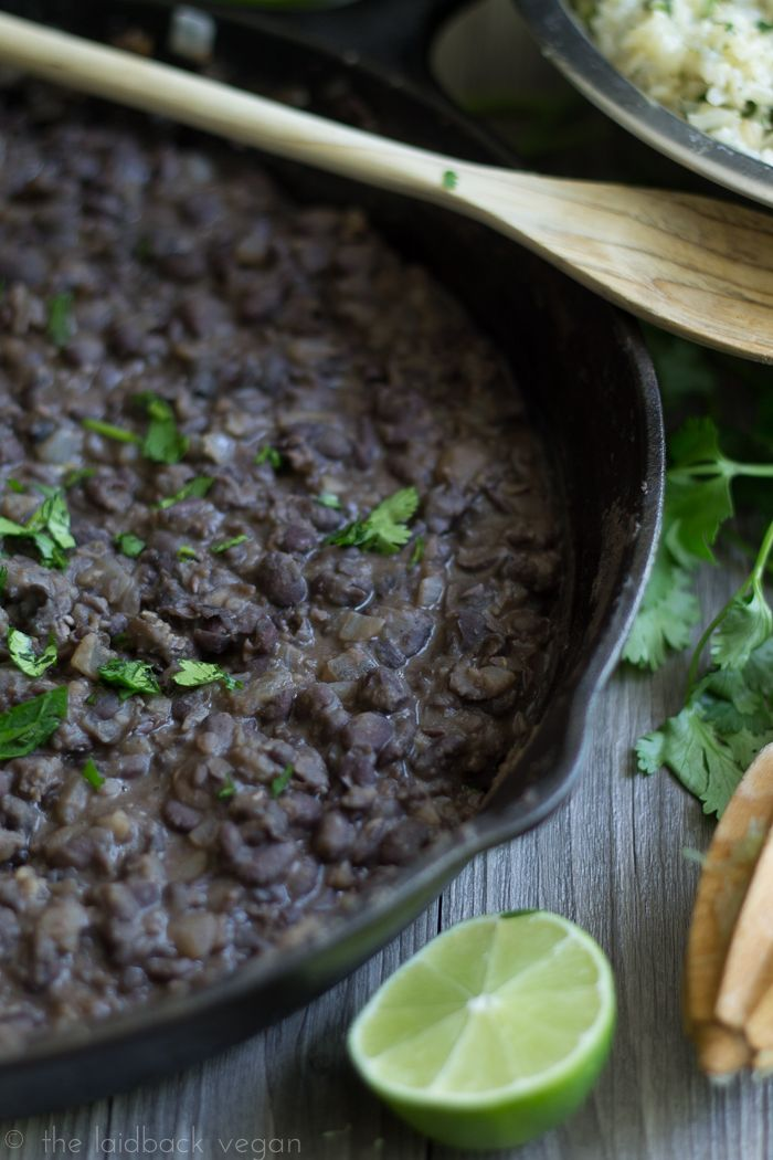 Refried Black Beans. So much better than canned and so easy!