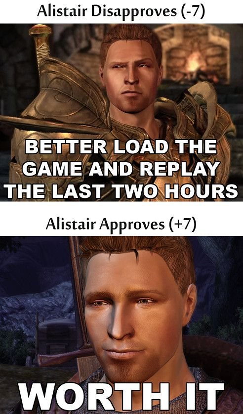 Yep, because, you know. It's Alistair.
