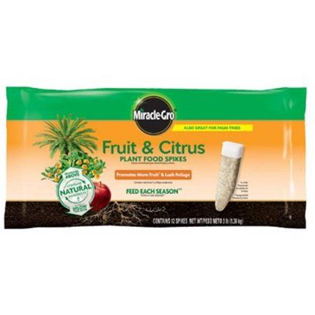 Scotts Miracle Gro 187332 Fruit & Citrus Fertilizer Spikes - Pack of 12, Multicolor