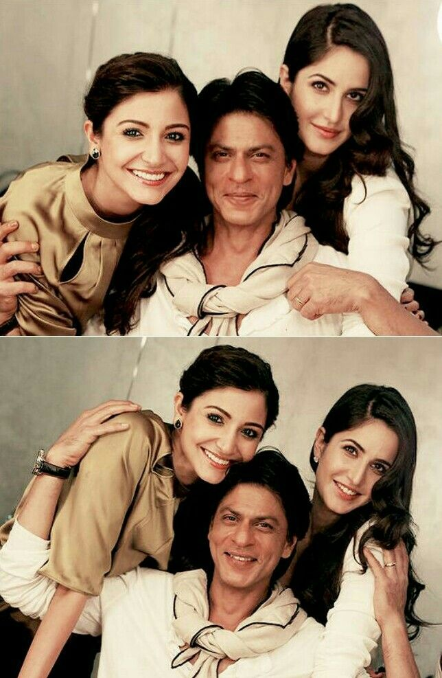 Anushka Sharma, Shahrukh Khan and Katrina Kaif