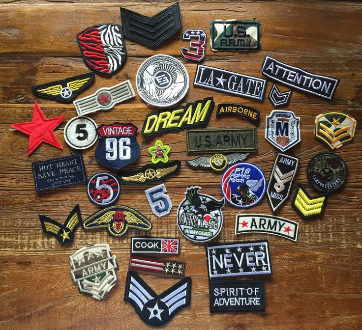 DIY Project 38 Pieces Army Theme Embroidered Bulks Patches