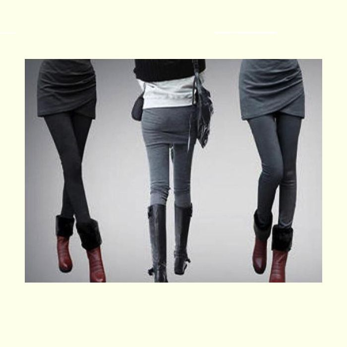 2-in-1 Skirt Leggings - Double Buy Combo Special! 2 Pair for $22.49