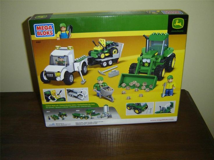 #MegaBloks 80807 #JohnDeere Groundskeeping Crew 3 vehicles 310 pcs NISB (1B)  Mega Bloks John Deere Groundskeeping Crew set  This set has 310 pieces  Set number 80807  Set includes 3 vehicles, 3 figures, and 6 tools  Brand new set in the original sealed carton      04082014TSCS1B