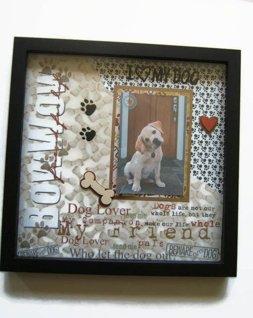 Dog Shadow Box Pet Loss Gift Pet Loss Frame Pet Memorial