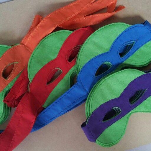 Máscaras de tortugas ninja para fiestas infantiles / ninja turtles mask