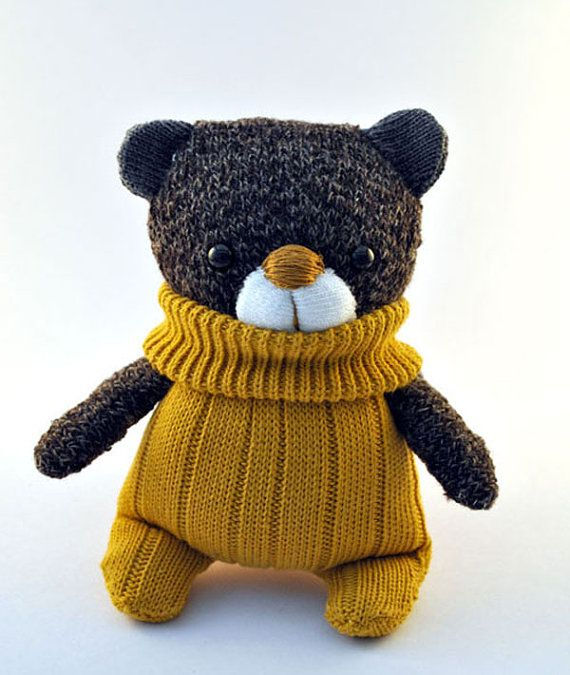 Handmade sock teddy!