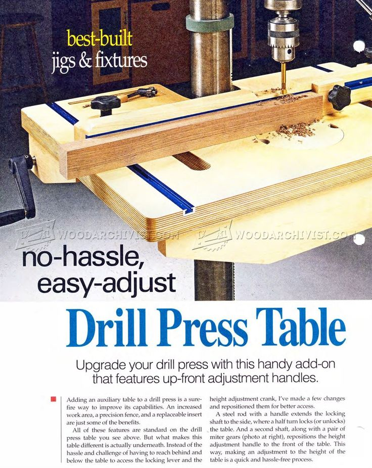 #2089 Drill Press Table and Fence Plans - Drill Press