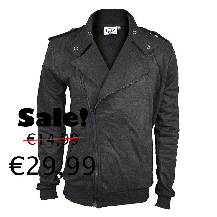 Biker vest grey-black http://mymenfashion.com/biker-vest-grey-black.html