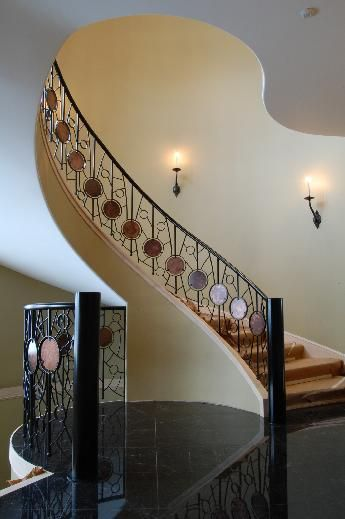 Circle Stair Railing by MN Artist, Dwight Mickelson