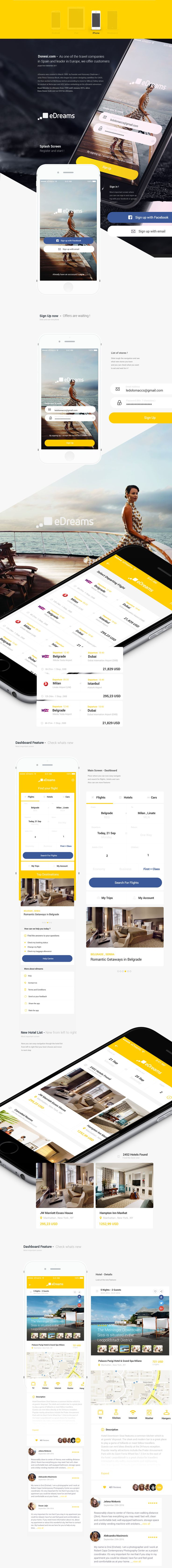 eDreams.com Redesign App - biggest e-commerce travel co on Behance