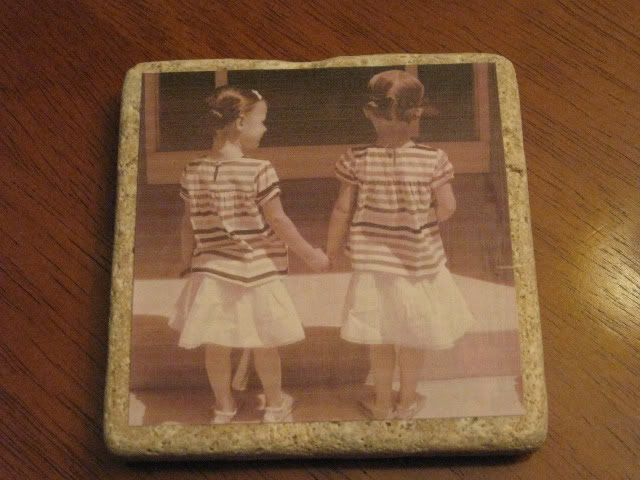 brown paper packages: {photo tiles/coasters} using presentation paper
