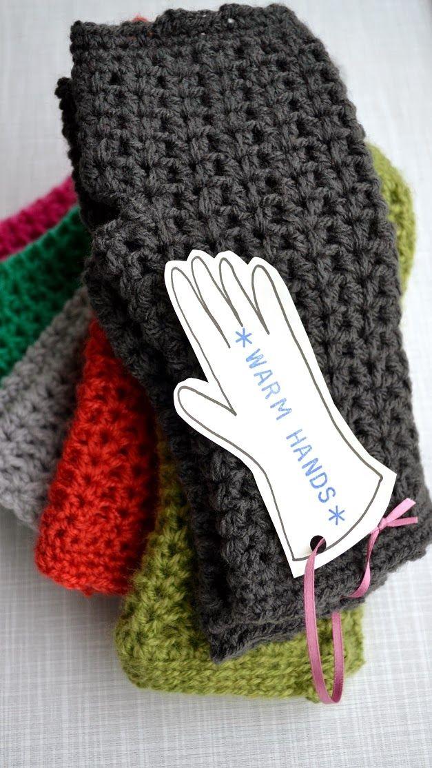 Crochet Warm Hands Free Pattern