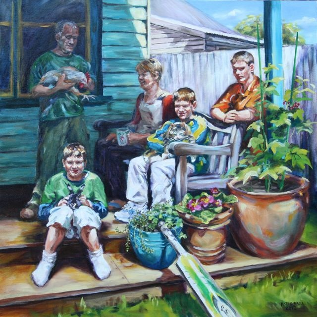 I love this portait painted of a family as it captures who they are and the life of their family. The detail and colours are amazing and I love it :)