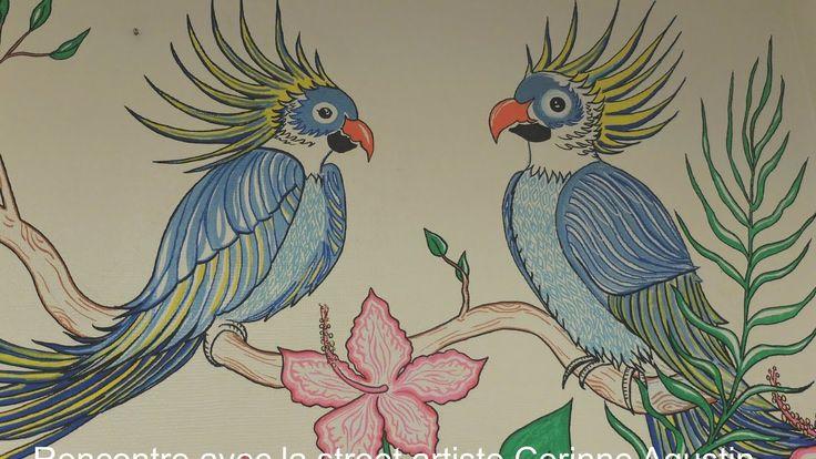 Rencontre avec la street artiste Corinne Agustin à l'hôpital Percy