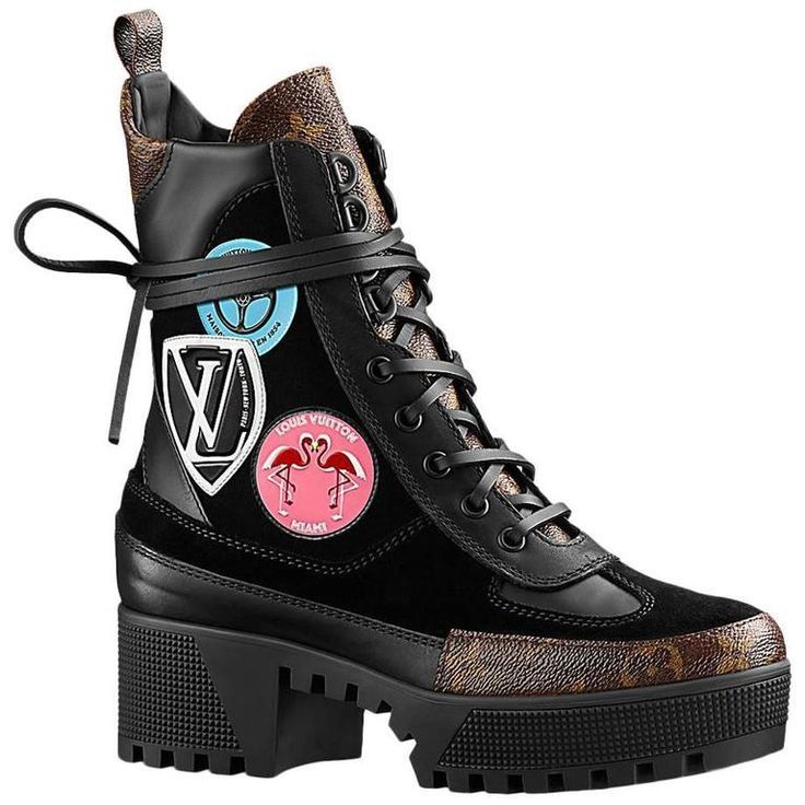 Louis Vuitton Checkpoint Platform Combat Desert Boot With Stickers