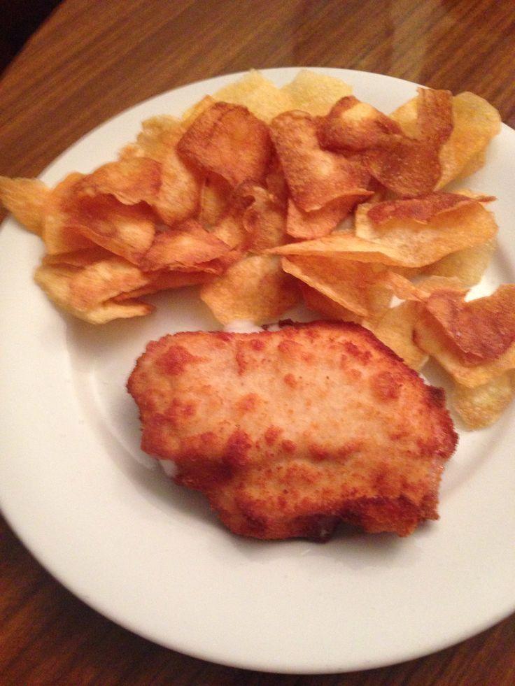 Patatas fritas caseras y mini san jacobo  – Mis recetas – #caseras #fritas #jaco…