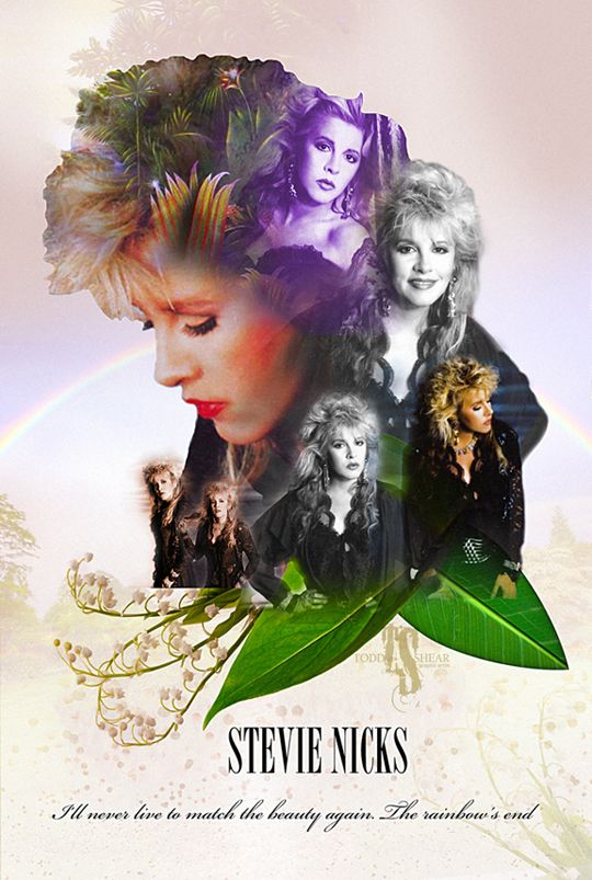 Stevie Nicks Tango In The Night era Digital Illustration. Not sure who the photographer is? All rights to their respective owners.