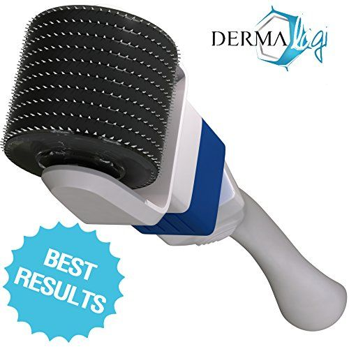 Derma Roller 0.5 / 1.0 - Best Dermaroller System For Younger Beautiful Looking Skin - Advanced & Safest Micro Needle Treatment for Home Use (Safer than 1.5 , 2.0 mm) with Easy-Glide, 600 Tiny Microneedle Disc Technology and Replaceable Micro-Needle Heads with 360º Rotation - Use for Stretch Marks, Eyes, Face, Cellulite, Acne, Body, Hair Loss, Scar Removal and Beauty Enhancement - 100% Satisfaction Guarantee - GET RESULTS IN UNDER 10 SESSIONS Or Your Money Back! Derma-Logi ...