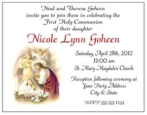 17 Best images about Holy Communion – Holy Communion Invitation Card