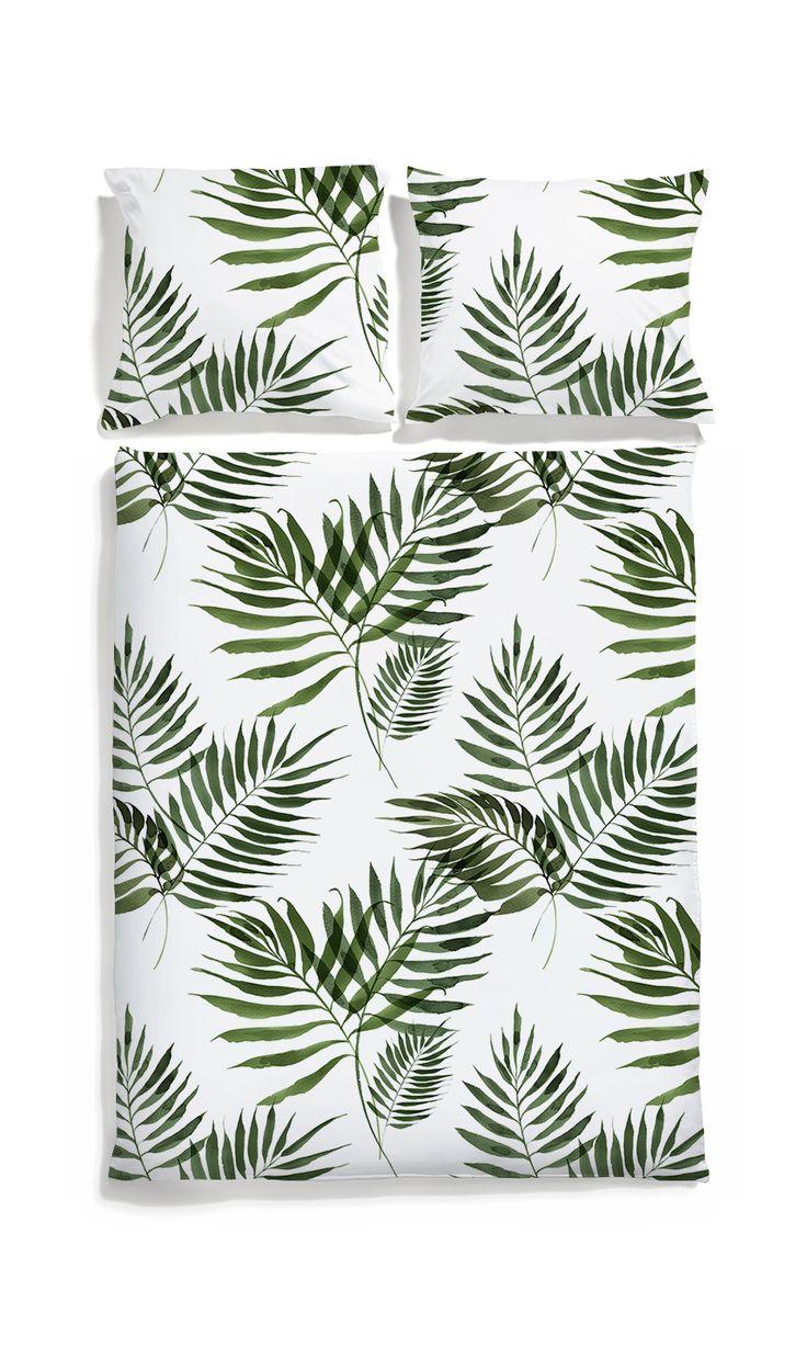 Palm tree bedding -White pocket