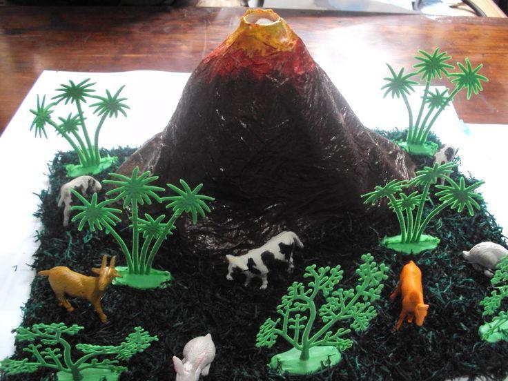 Como hacer un volcan de plastilina casero - Materiales para hacer un volcan