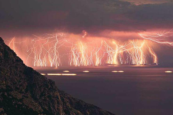 lightning storm. with a fervor.