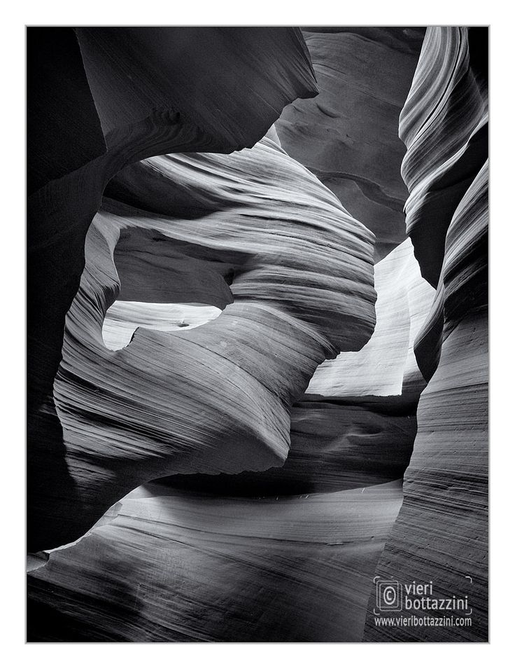 Antelope Canyon inspired me with a very different vision, more intimate. I choose to portray Antelope's Spirits in black & white. via @vieribottazzini