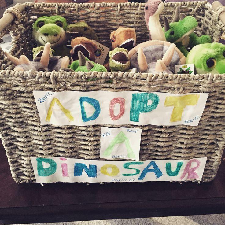 Adopt a dinosaur Kids birthday party favor