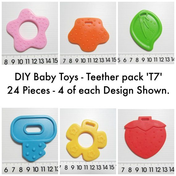 Baby Teether DIY Toy Making. Non Toxic. 24 Pieces.Mixed Colours Pack 'T7'. AUD 8.00 Worldwide Postage! Baby Toy Supplies.