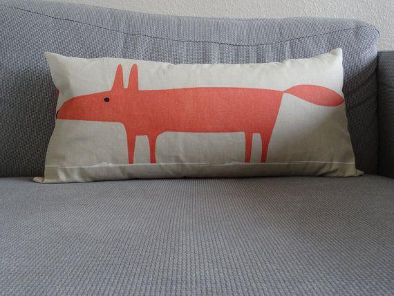 Mr Fox pillow / Mr Fox cushion cover / Fox cushion by SarahSewsIt