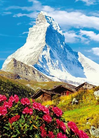 The Matterhorn, Switzerland (this does not look real to me...I wonder if I will ever see anything like it)